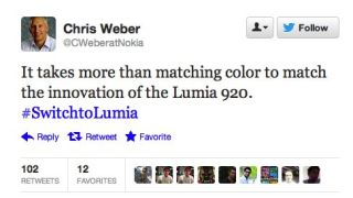 Chris Weber Nokia tweet