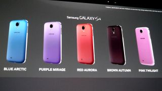 Samsung Galaxy S4 turns up in five new garish shades
