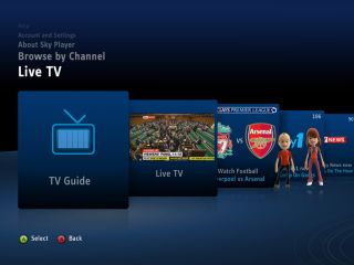 Sky Player on Xbox - nice