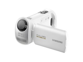 Samsung s new HMX 10 camcorders come in red white and black