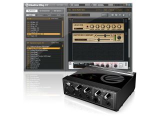 The Guitar Rig 3 XE software and the Session I O interface