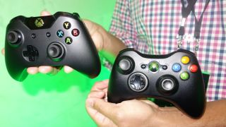 Xbox One controller vs Xbox 360 controller photos