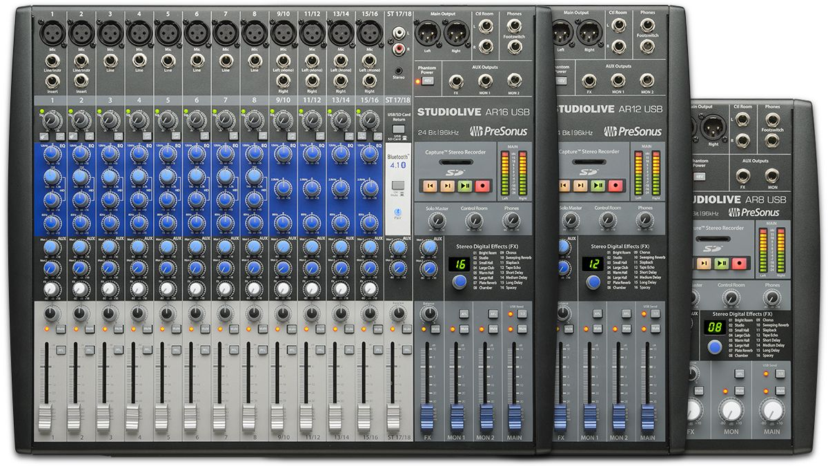 PreSonus's StudioLive AR USB mixers are designed to be at ...