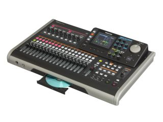 The DP-24's large colour LCD screen helps make mixing tracks a breeze.