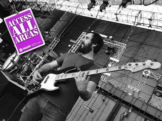 Bass tech Fiddy on the job