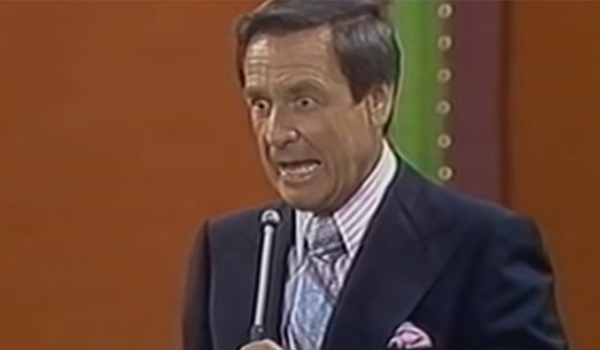 A shocked Bob Barker on The Price Is Right