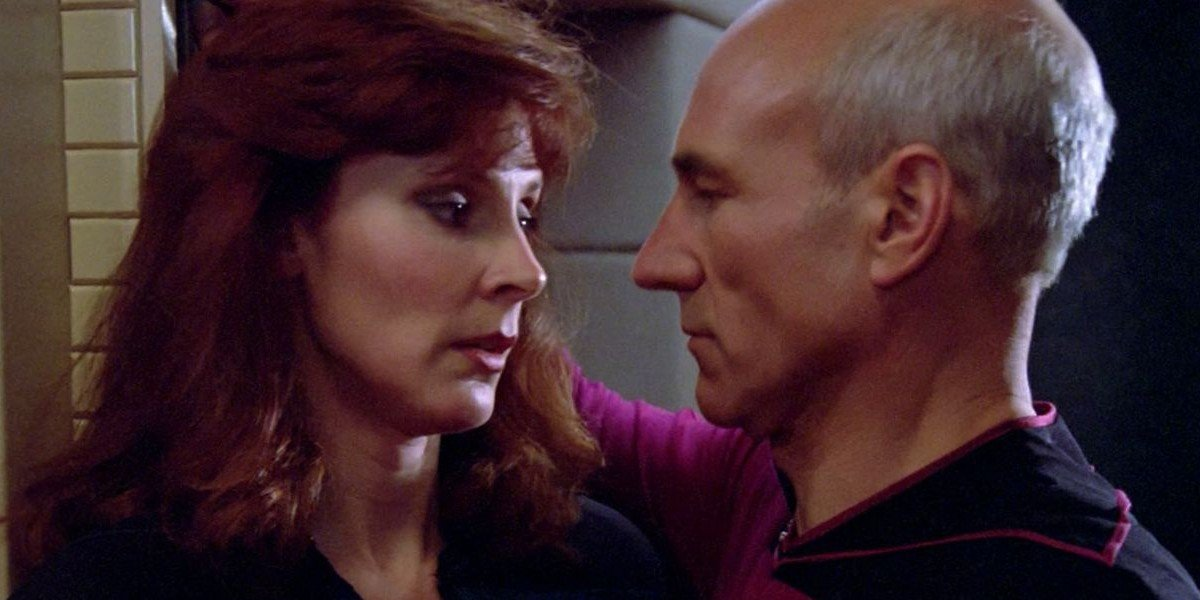 crusher and picard face to face in star trek the next generation