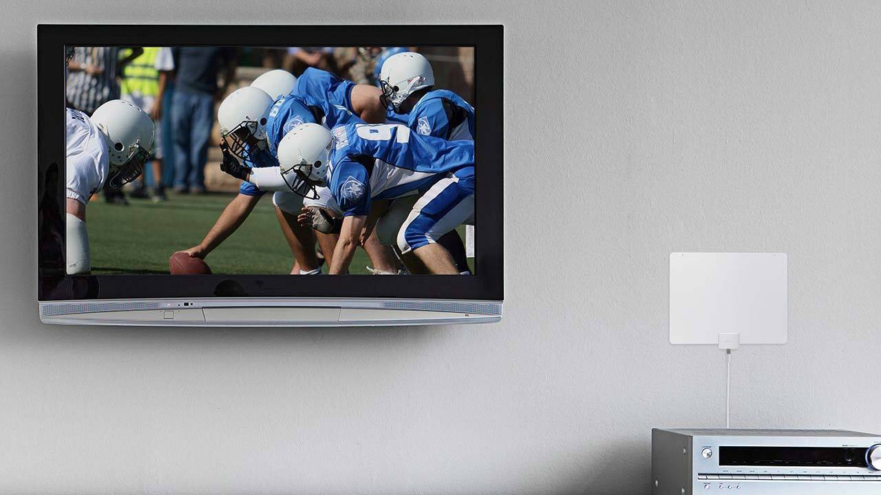30 Mile Range 4K-Ready HDTV Made with Recycled Materials Indoor TV Antenna