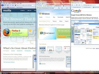 Chrome, IE8 and Firefox 3.1