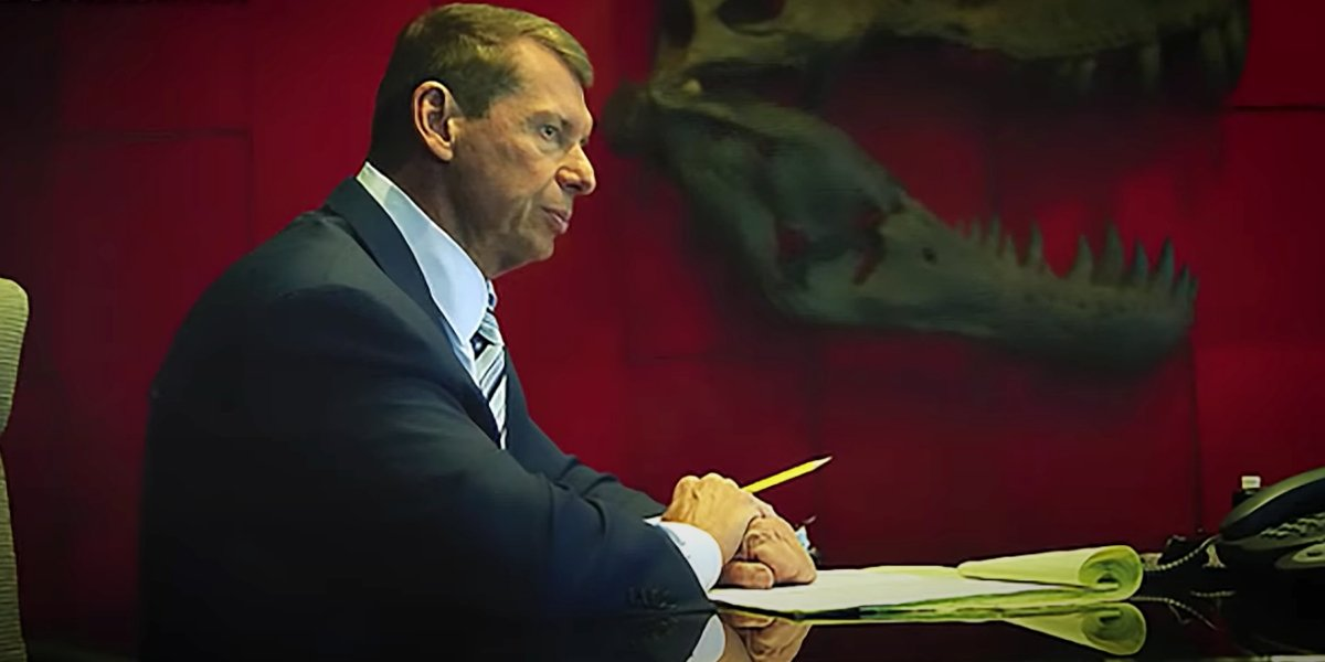 Vince McMahon in his office