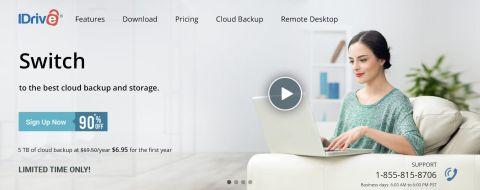 IDrive's homepage