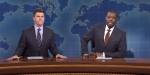 Colin Jost And Michael Che Are Having The Best Time After Scarlett Johansson Baby Announcement