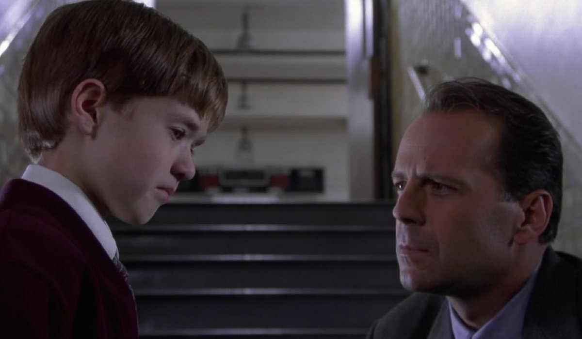 The Sixth Sense Cole and Malcolm meeting at the stairs
