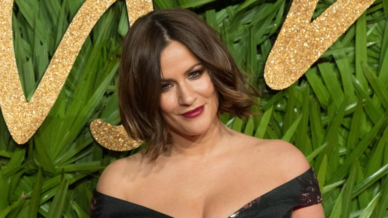Caroline Flack attends the Fashion Awards 2017 In Partnership With Swarovski at Royal Albert Hall on December 4, 2017 in London, England.