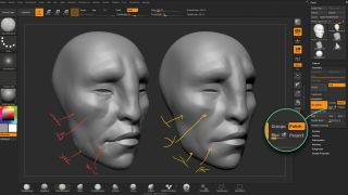 ZBrushCore screenshot shows faces