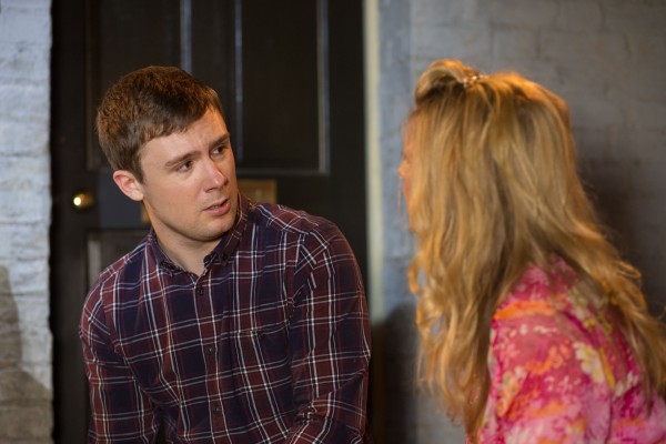 Danny-Boy Hatchard and Kellie Bright as Linda and Lee Carter in EastEnders