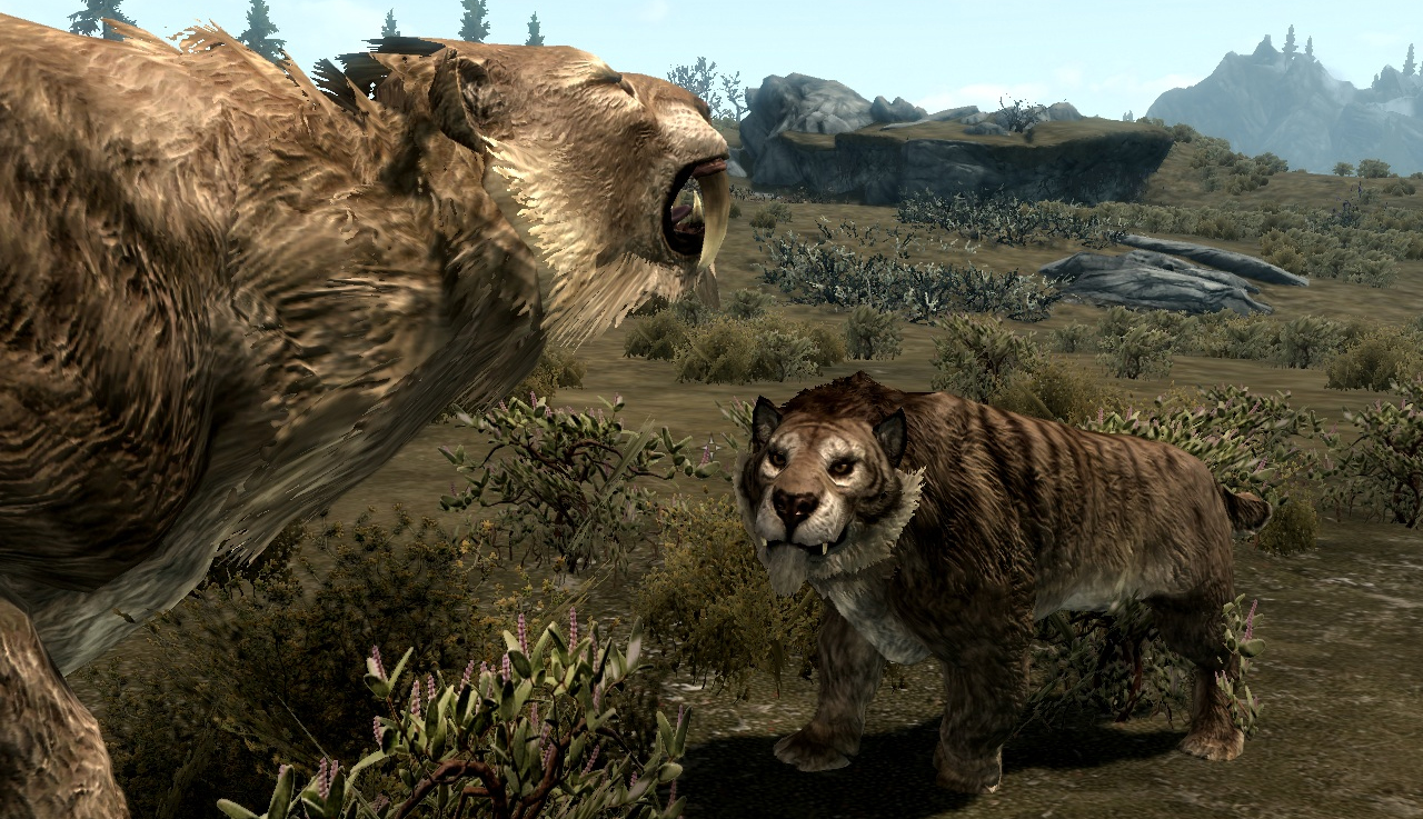 the best skyrim mods: realistic animals and predators