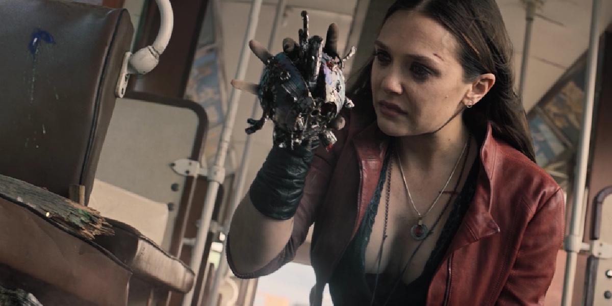 Wanda rips out Ultron's heart in Avengers: Age of Ultron.