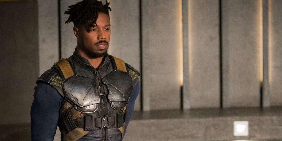 Michael B. Jordan as Erik Killmonger in Black Panther