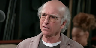 Larry David gives a WTF look on Curb Your Enthusiasm
