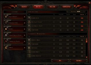 Diablo  Crafted Items List