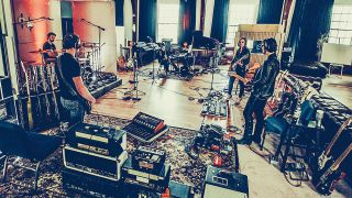 Halestorm recording at Neon Cross studios