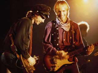 Campbell and Petty on stage in 1985