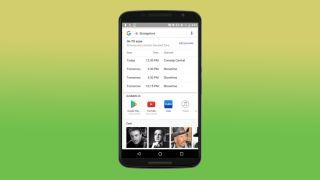 Google search TV listings