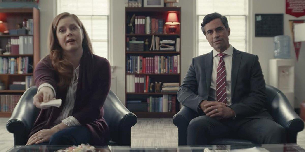 Amy Adams and Danny Pino in the trailer for Dear Evan Hansen.