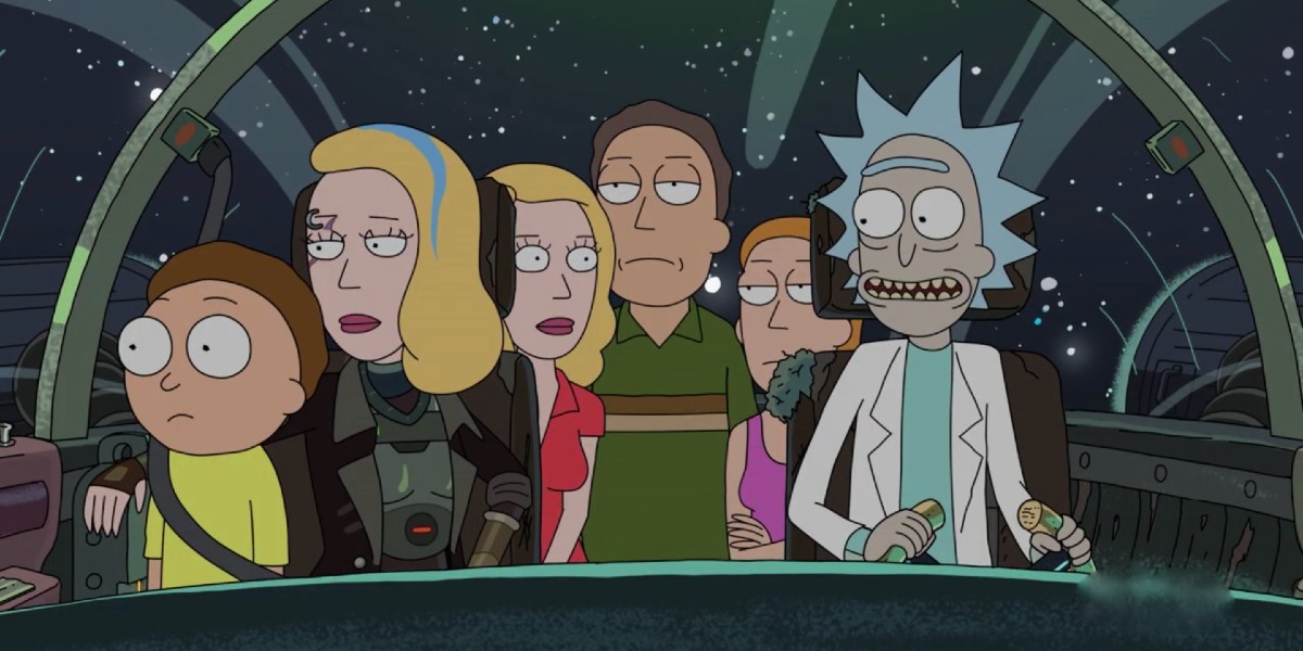 Rick and Morty Space Beth Beth Jerry and Summer Adult Swim