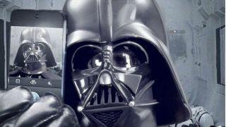 What s this Oh just Darth Vader taking a selfie