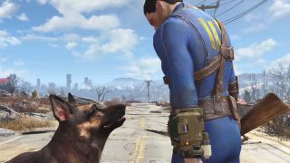 Fallout 4's protagonist and loyal canine take a respite from the wasteland