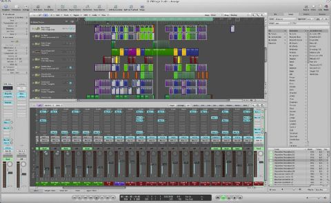 Most of the action in Logic Pro 8 happens in one screen
