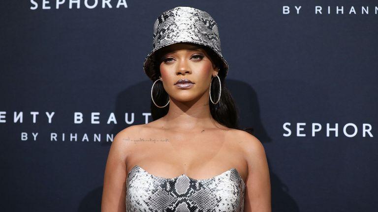 Rihanna attends the Fenty Beauty by Rihanna Anniversary Event at Overseas Passenger Terminal on October 3, 2018 in Sydney, Australia.