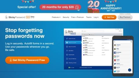 Sticky Password review - Sticky Password's homepage
