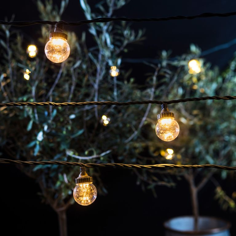 Best garden lighting: 25m Warm White Connectable Festoon Light Bundle Clear Cap from Lights4fun