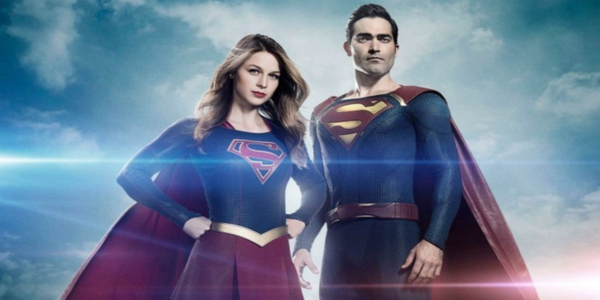 Supergirl and Superman in the Supergirl tv series