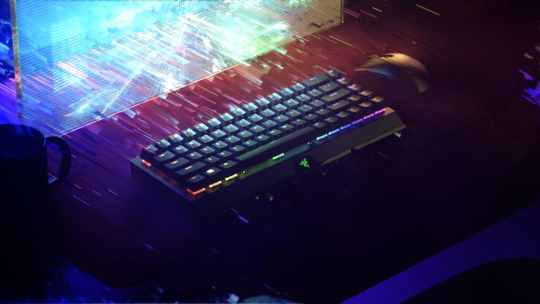 best gaming keyboards 2021 hero image showing Razer BlackWidow V3 Mini HyperSpeed