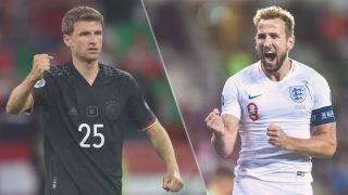England vs Germany live stream at Euro 2020 — Thomas Muller of Germany and Harry Kane of England
