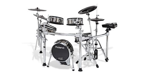 "The TD-25KV configuration includes a 10"" PDX-100 snare pad, 10"" floor tom pads, two PD-85 pads for the rack toms, plus cymbals"