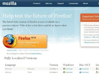 Firefox 3 5 in beta but coming soon