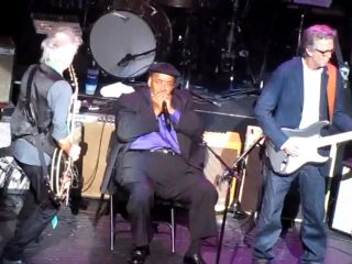 Richards harmonica player James Cotton and Clapton on stage last Friday