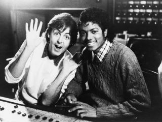 McCartney and Jackson in the studio