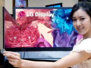 LG shows off its super-thin TVs. They will cost a bit more than a penny, though!