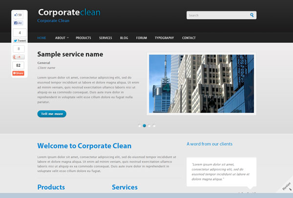 Drupal themes - Corporate Clean