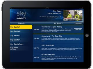 Sky's Mobile TV for iPad - sexy