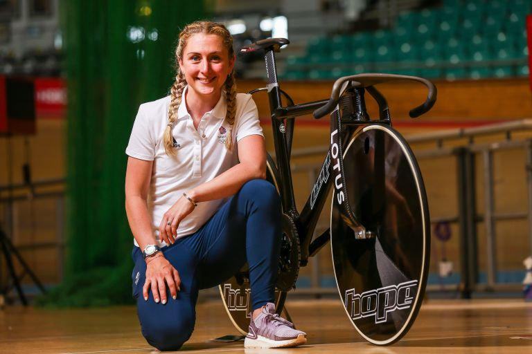 Laura Kenny at the Team GB track cycling presentation for Tokyo 2020