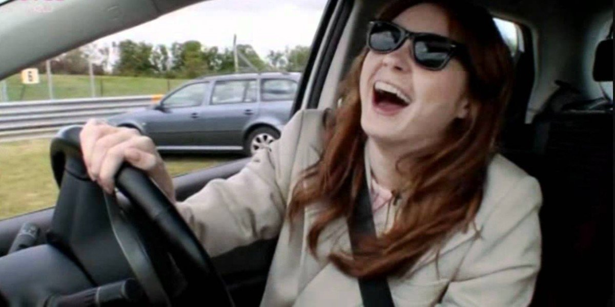 """Screenshot from """"Karen's Driving Course! - Doctor Who Confidential"""""""