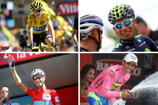 Chris Froome, Nairo Quintana, Fabio Aru and Alberto Contador