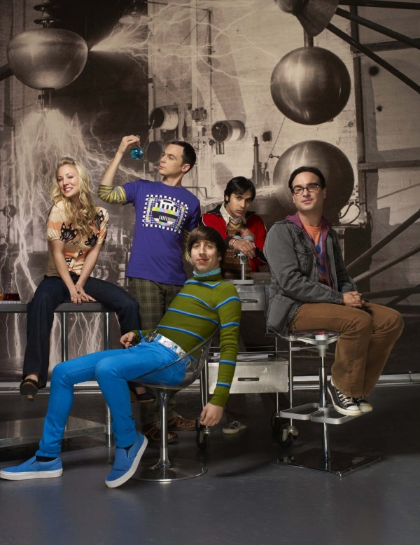 Jim Parsons, Johnny Galecki, Simon Helberg, Kunal Nayyar and Kaley Cuoco Sweeting star in The Big Bang Theory